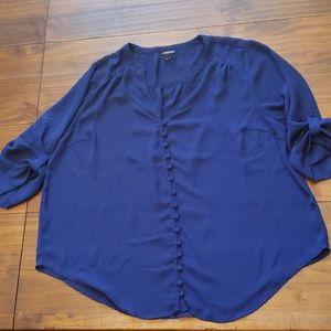 Torrid size 2 button up v-neck blouse